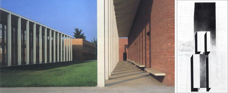 Paolo rizzatto edifici pubblici for Piani di casa unici con planimetrie aperte