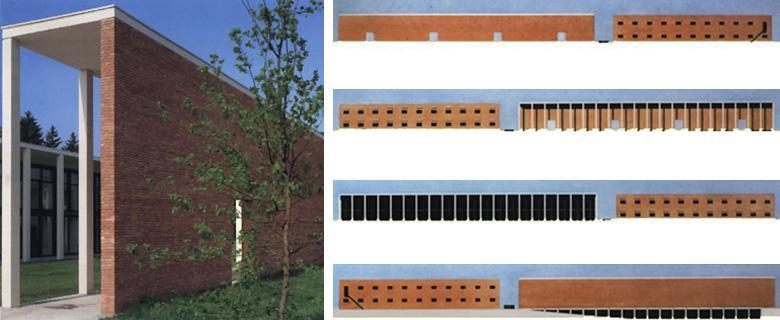 Paolo rizzatto edifici pubblici for Piani di una casa colonica avvolgono il portico